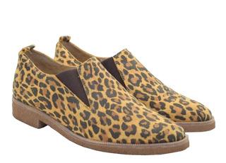 Zapato De Cuero Mocasines Suela De Goma Super Livianos Mujer