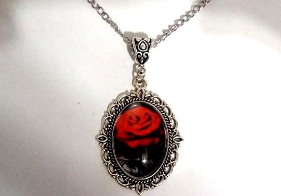 Correntinha Perfect Rose Em Vidro Vintage Frete Grátis