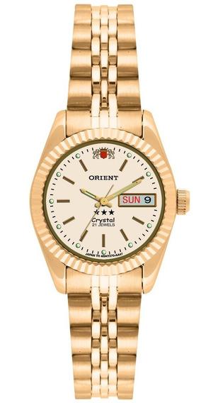 Relógio Orient Feminino Automático 559eb1x C1kx Dourado