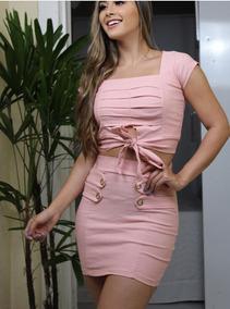 Kit 3 Conjuntos Feminino Saia + Blusa Moda Barato Promoção
