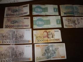 Lote Com Notas Antigas De Cruzeiros