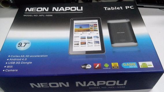 Caixa + Manual Original Para Tablet Napoli Npl-n996