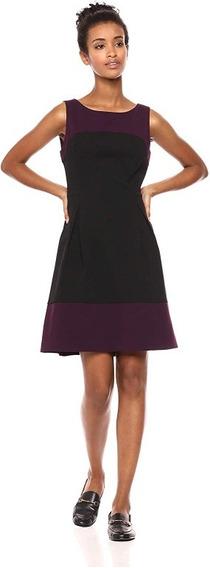 Vestido Formal Talla Xl Tommy Hilfiger Bicolor Negro