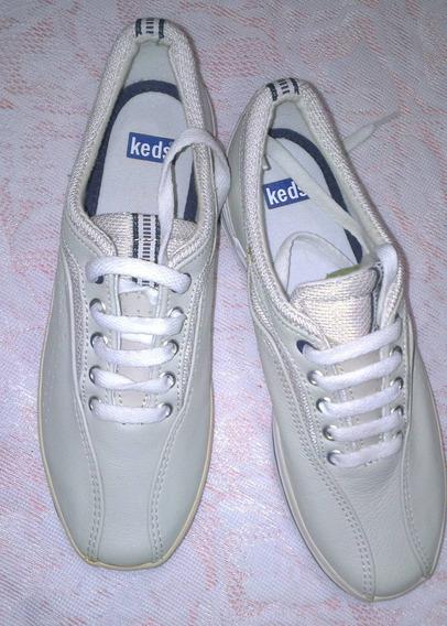 Zapatos Keds Originales 100% Cuero Talla 36 Unisex * E. R