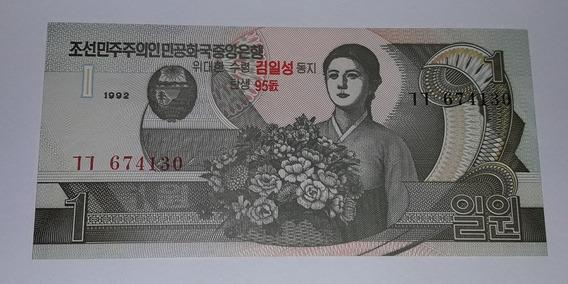 Cédula 1 Won Korea North Coréia Do Norte P-49 Fe 2007 Comem