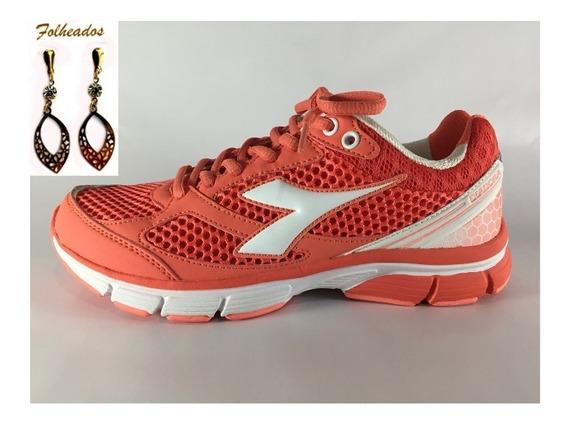 Tênis Feminino Diadora 125110 Reflex W C2905 Pink + Brinco