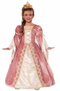 Disfraz Princesa Rosado Vestido Victorian Rose Halloween