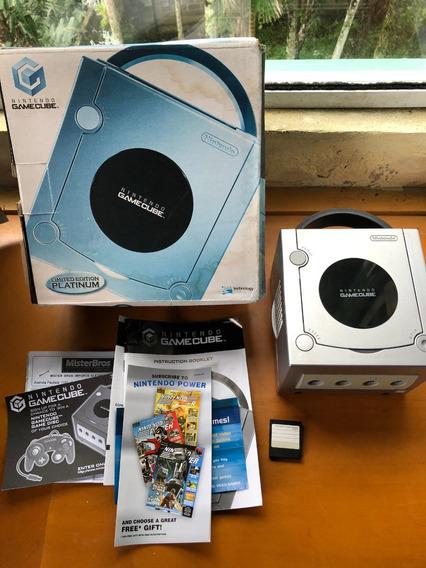 Combo Gamecube Platinum Nintendo Original Com 3 Controles