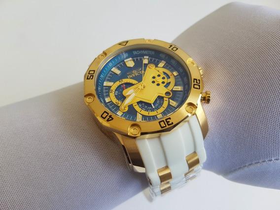Relógio Invicta 23423 Pro Diver Pulseira Borracha Branca