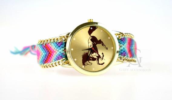 Relojes Vaquero Tejido Caballo De Moda Vintage Mayoreo