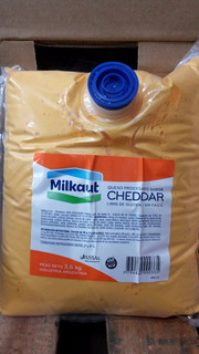Queso Cheddar Untable Milkaut X 3,5 Kg Bolsa