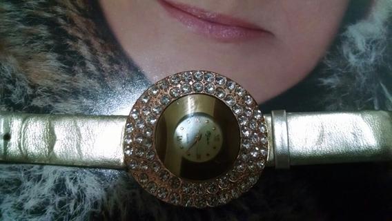 Relógio De Pulso Feminino Dourada