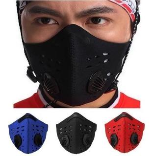 Mascara De Neopreno Para Bicicleta Motociclista Azul
