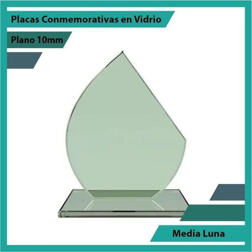 Placa De Vidrio Referencia Media Luna Pulido Plano 10mm