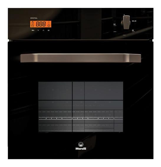 Horno a gas/eléctrico Morelli Cristal 900 Negro