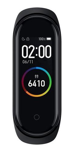 """Imagen 1 de 3 de Xiaomi Mi Smart Band 4 0.95"""" caja de  policarbonato  black malla  black de  elastómero termoplástico y aleación de aluminio XMSH07HM"""