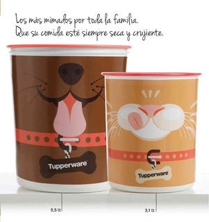 Hermético Plástico Tarro Mascotas Gato Marca Tupperware