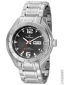 Relógio Champion Masculino Prateado Ca30696t Original + Nf