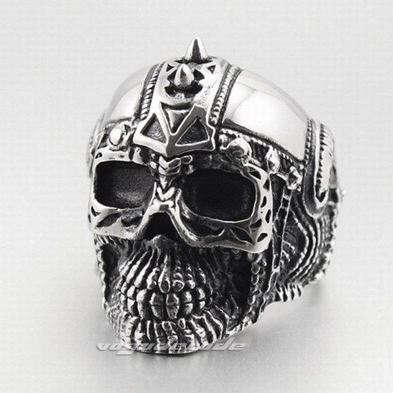 Lindo Anel Caveira Tatuada,skull, Punk, Aço Inox Aro 30