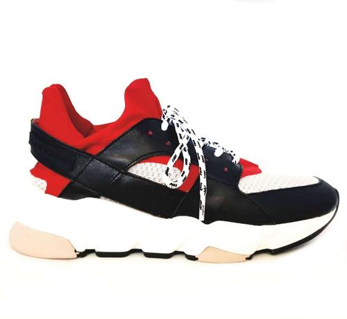 Tênis Sneakers Carrano Couro Tecido Colmeia 160401 Original