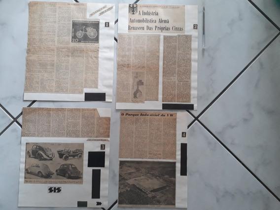 Recort Jornal 1964 História Indústria Vw Fusca Alemão Merced