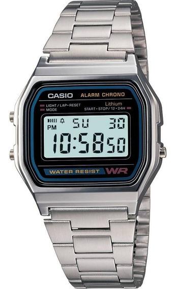 Relógio Casio Unissex A158wa 1df Digital - Prata