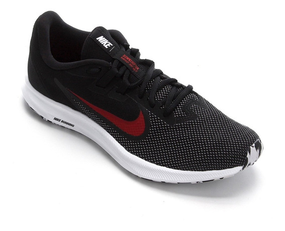 Tênis Nike Downshifter 9 Masculino Running- Preto E Vermelho