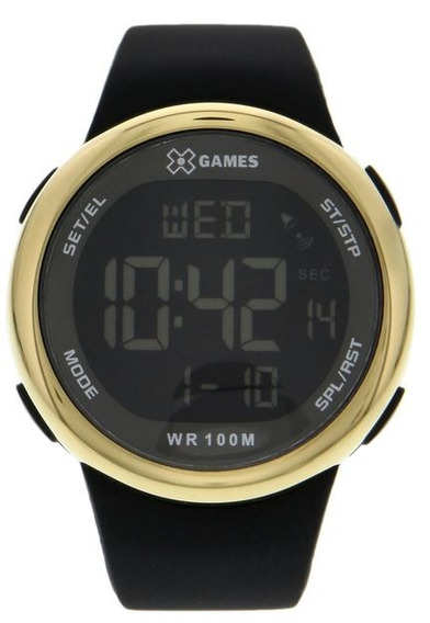 Relógio X-games Xmppd441-pxpx Dourado/preto