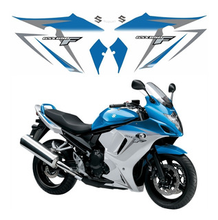 Faixa Emblema Adesivo Suzuki Gsx 650f 2012 Azul E Prata Gsxf