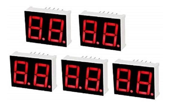 Kit 100uni Display 7 Segmento 0.28 2 Dígito Vermelho Anodo