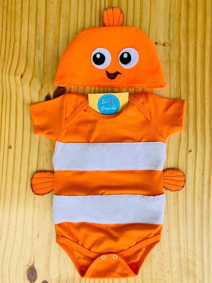 Body Nemo Peixe Bebê Mêsversário Festa Fantasia