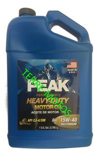 Aceite Peak 15w40 3.79l Nafta Diesel Camion Cj4 / Sm Eeuu
