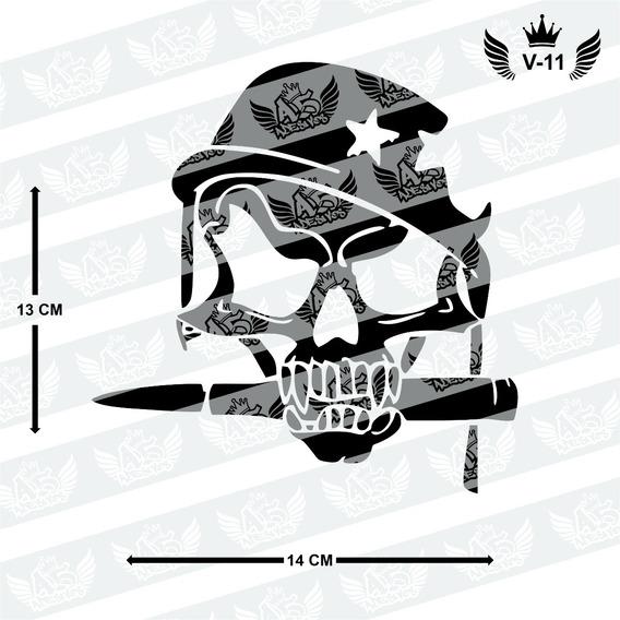 Adesivo Caveira Militar Para Carro, Moto, Notebook, Etc.