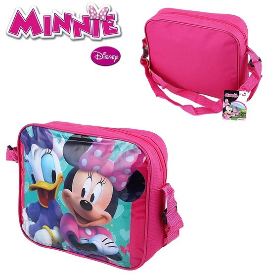 Bolsa De Vinil Infantil Retangular Minnie 23x20cm!!!