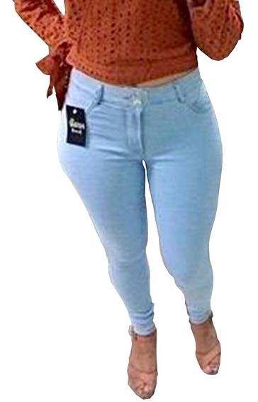 Calça Feminina Jeans Skinny Com Lycra Cintura Alta