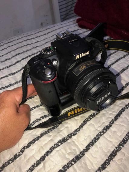 Câmera Nikon D300+ Duas Lentes 35mm E 18-55 Perfeito Estado