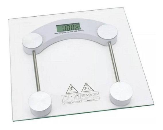 Balança Digital Vidro Temperado Até 180 Kg Quadrada Banheiro