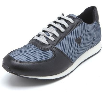 Tênis Jogging Cavalera Recortes Azul