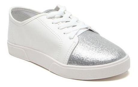 Promoção! Tênis Zaxy Glitter Branco Com Prata By Dream Store