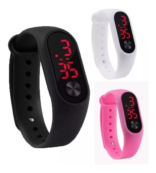 Relógio Digital Esportivo Bracelete Led Unissex- 1 Unidades