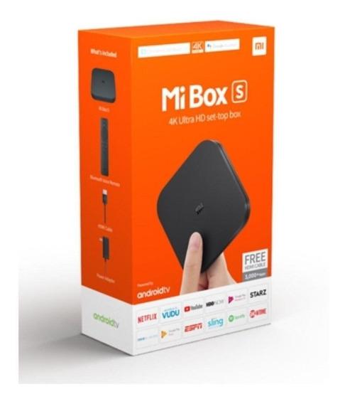Streaming Media Player Xiaomi Mi Box S De Voz 4k 8gb Preto C