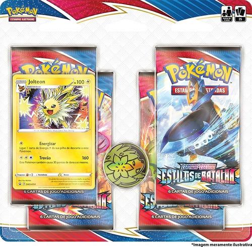 Imagem 1 de 1 de Card Game Pokémon Estilos Batalha Blister Quádruplo Jolteon