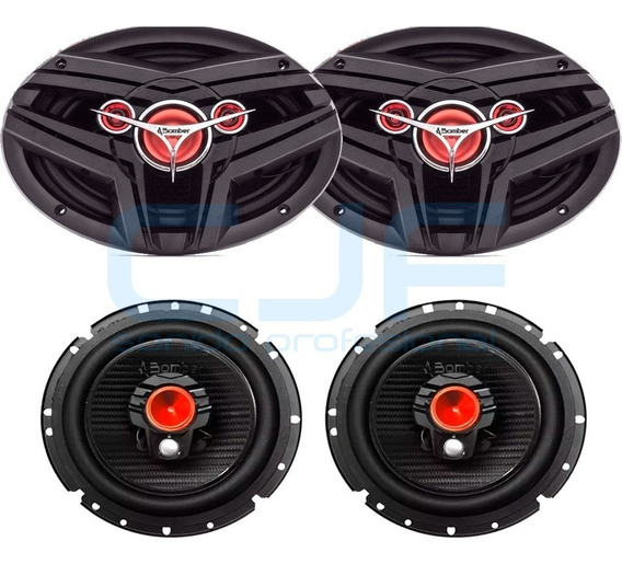 Combo Parlantes Bomber 2 6x9 Bbmax + 2 6,5 Bbr 240w Rms Cjf