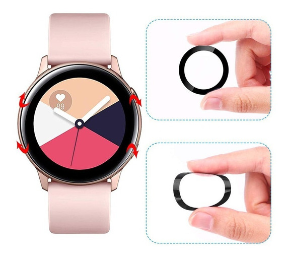 2 Peliculas Galaxy Watch Active 2 Fibra De Vidro 3d