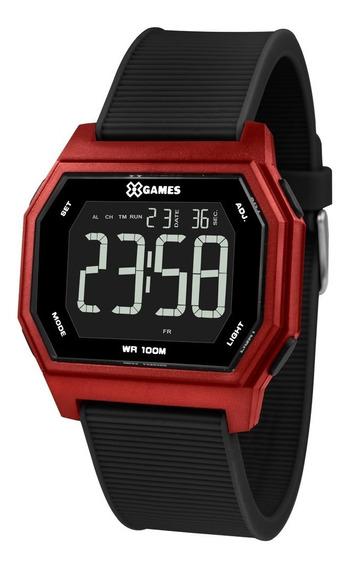 Relógio X-games Masculino Digital Xgppd111 Pxpx Quadrado Red