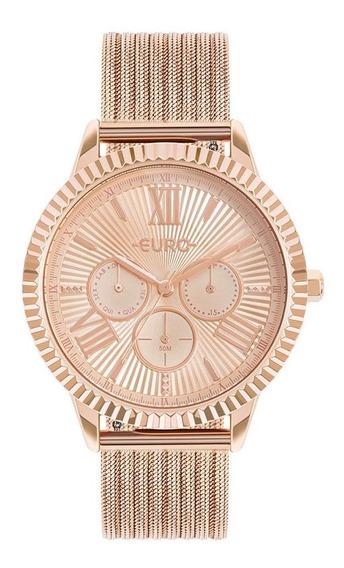 Relógio Euro Multiglow Rose Feminino Eu6p29ahp/4j