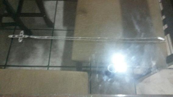 Corrente Anderson Ouro Branco 40 Cm Cruz 4 Cm