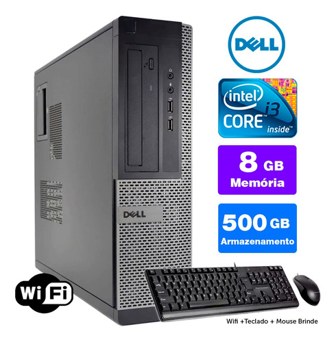 Imagem 1 de 5 de Desktop Barato Dell Optiplex Int I3 2g 8gb 500gb Brinde