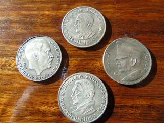 Set 4 Monedas A. Hitler Segunda Guerra Mundial