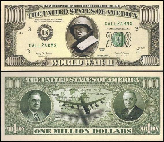Usa Md-197 Fe 1 Milhão De Dólares 2ª Guerra Mundial * C O L*